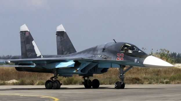 Syria crisis: Massive Russian air strikes on 'IS targets'