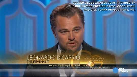 Golden Globes: Big Night for The Revenant and Leonardo DiCaprio