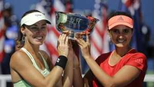 Sania Mirza and Martina Hingis win Australian Open women's doubles title