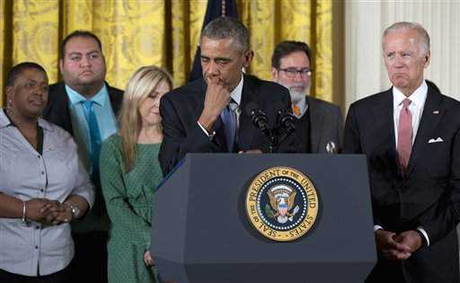 Tearful Obama Outlines Measures to Control Firearm Departures