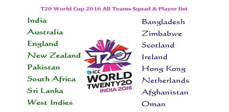 Asia Cup T20 2016 – All Teams and players list