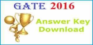 GATE 2016 Official Answer Key for MEC & ECE Exam Paper