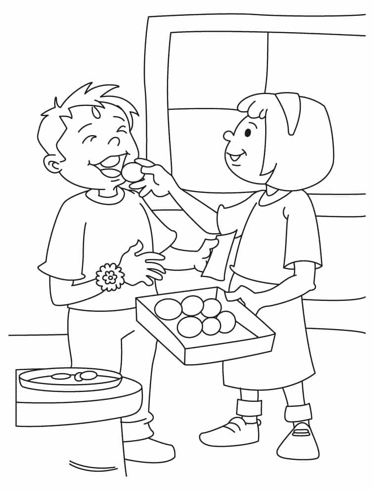 happy birthday coloring pages for sister - raksha bandhan pictures 2017 free download for colouring