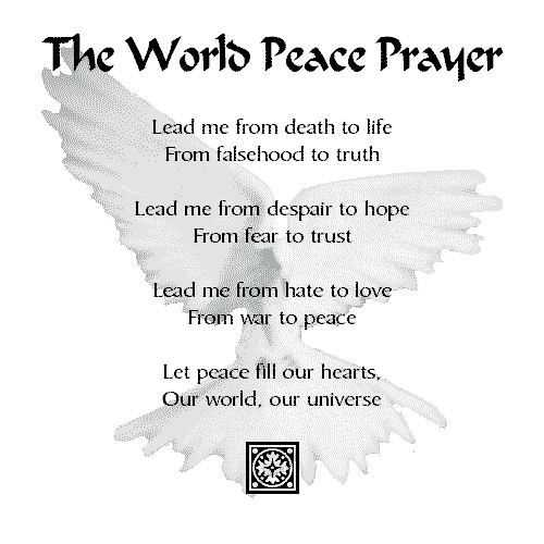 prayer for peace images