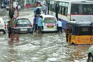 Hyderabad(Telangana): Heavy Rain Alert Flooding Highway Railway Tracks