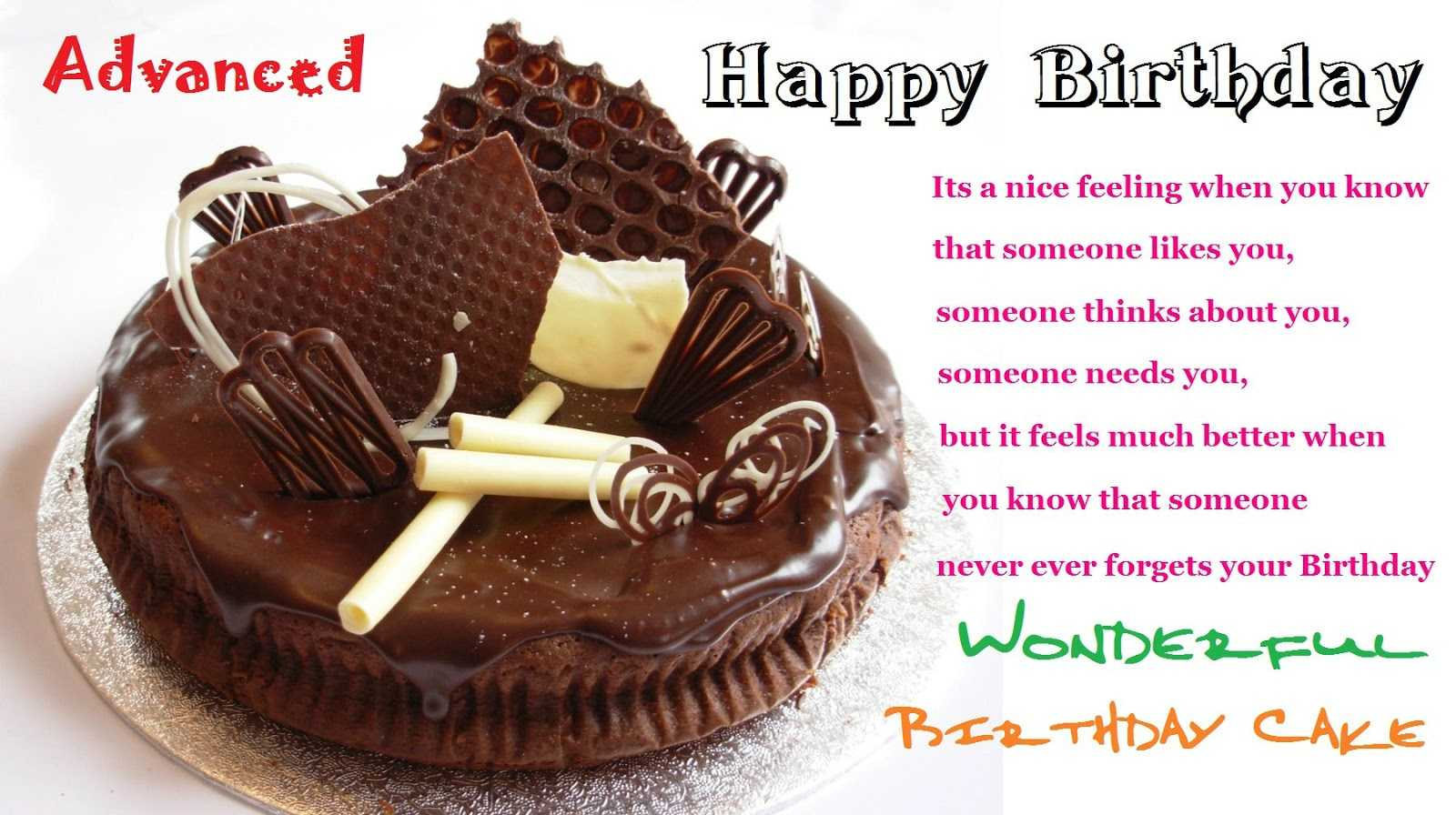 Advance Birthday Wishes For Best Friend Images ~ Advance happy birthday wishes hd images free download