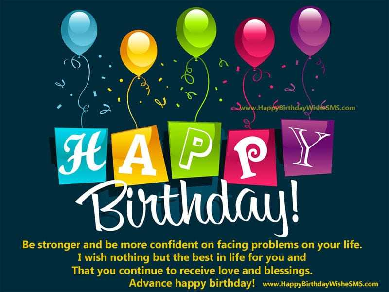 Advance Birthday Wishes For Best Friend Images ~ Best happy birthday wishes for crazy friend inspirational