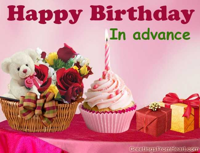 advance happy birthday wishes images download