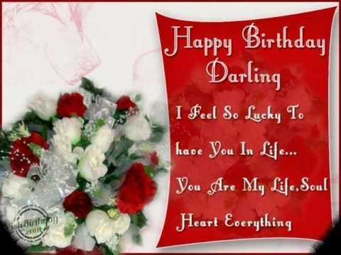 happy birthday wishes to wife in english