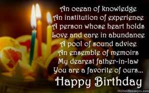 Happy Birthday Wishes Greetings Messages for Father in Law