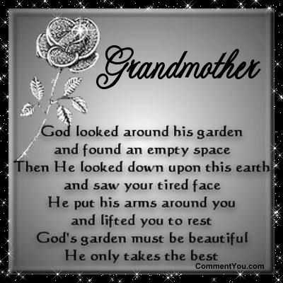 Happy Birthday Grandma Quotes in Heaven or Passed Away