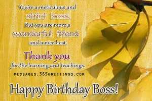 Happy Birthday Greetings Messages for Office Boss and Friend