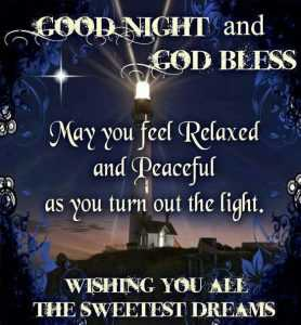 Good Night God Bless Quotes Prayer for Friends and Family