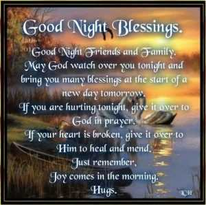 Good Night Blessings Sms Quotes for Him