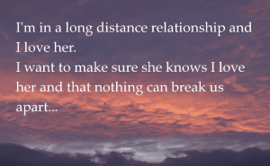 Sweet Romantic Love Text Messages for Her in a Long Distance Relationship