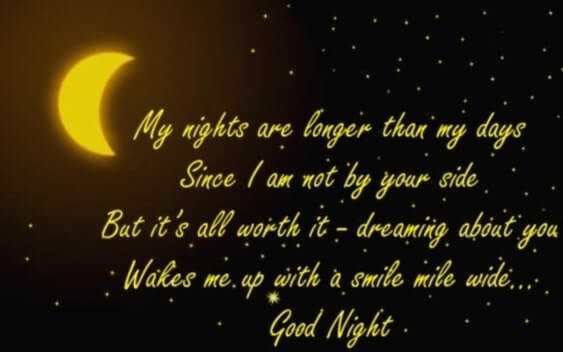 Romantic Good Night Wishes for Lover