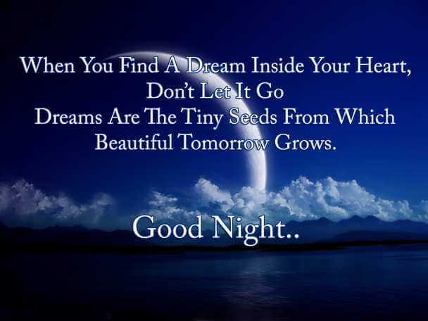 sweet romantic good night sms for her