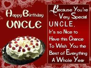 Belated Happy Birthday Wishes for My Dear Uncle in English